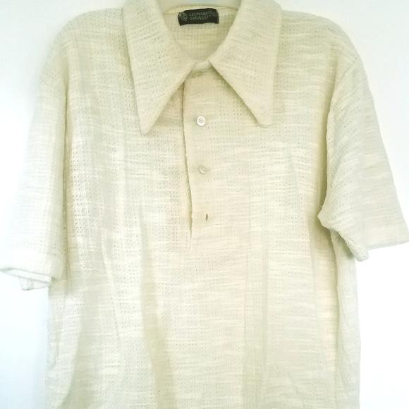 e821a7bce93 Leonardo Strassi Vintage 60s mens knit shirt